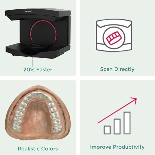 3Shape E3 lab scanner Key Feature Image