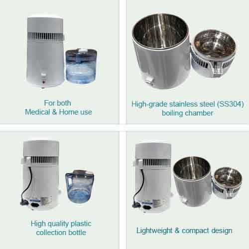 Aqua Water Distiller Key Feature