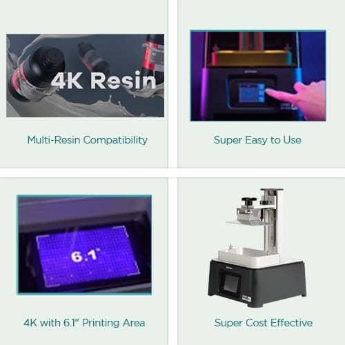 Sonic Mini 4K LED 3D Printer Key Feature