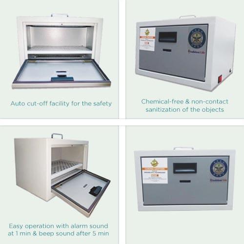 Flare UV-C Sanitization Box - 22L Flare UV-C Sanitization Box - 22L (Make in India)