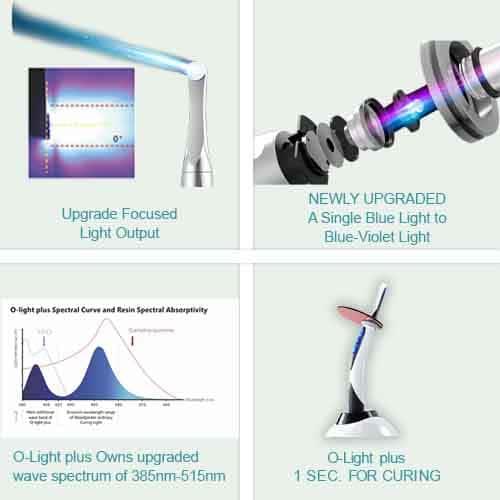 DTE O-Light Plus Light Cure Key Feature