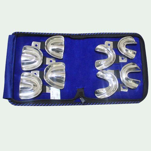 Impression Trays Set Of 8 (E-Dentulas-Non-Perforated)